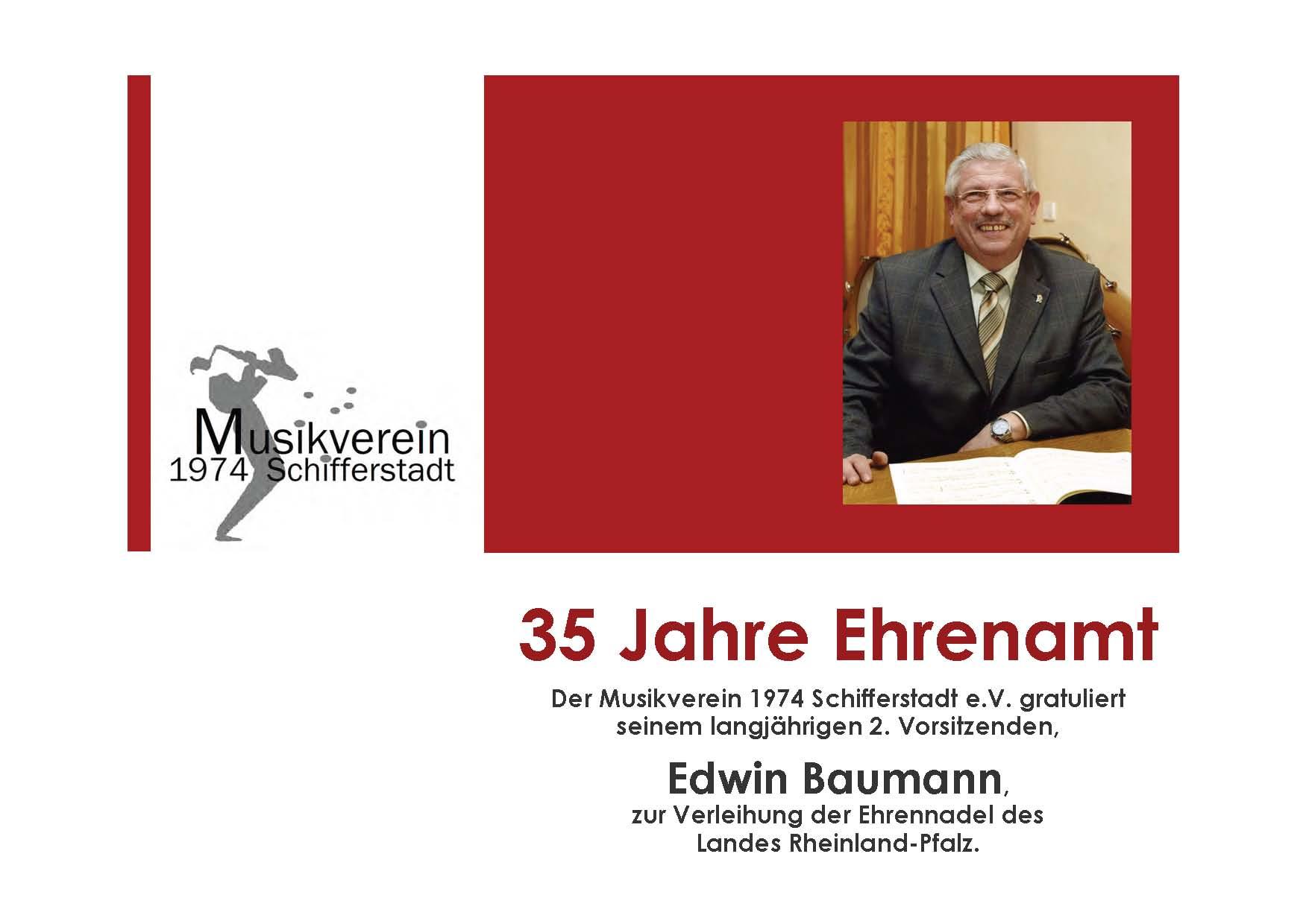RP Ehrennadel Edwin Baumann