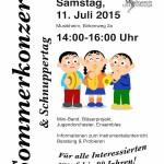 Plakat Schnuppertag und Sommerkonzert 2015