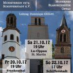Kirchenkonzertreihe Projektorchester MV 1974 Schifferstadt und MBO Oppau in Oppau, Schifferstadt und Frankenthal vom 20. bis 22.Oktober 2017