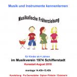 Musikalische Früherziehung Sommer 2018