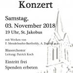 Kirchenkonzert am 03.11.2018